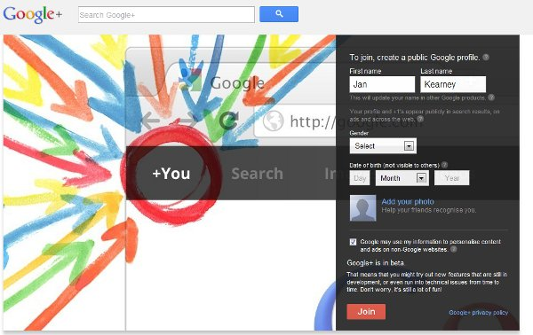 Setting up a Google+ Profile