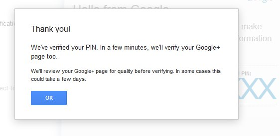 Google Plus local merge business verification