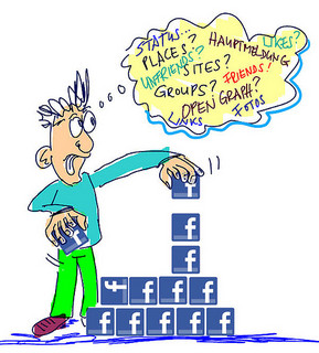 facebook frustration with page updates, newsfeeds
