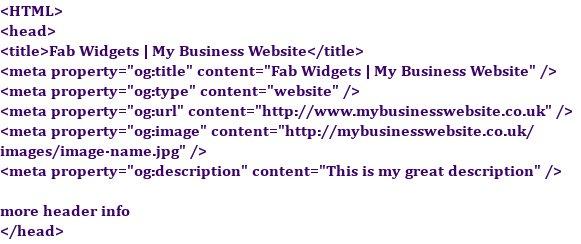Open Graph meta tags