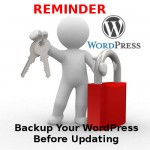 Don't forget to back up before upgrading to WordPress 3.5!