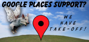 Google Places Phone Support (Yes, that pig has wings…)