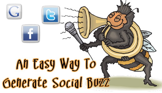 share content and create social buzz