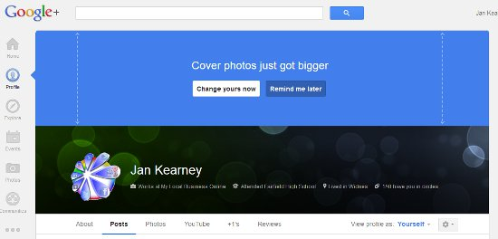 Time to update your Google Plus cover image