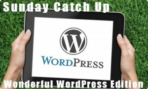 Sunday Catch Up – Wonderful WordPress Edition