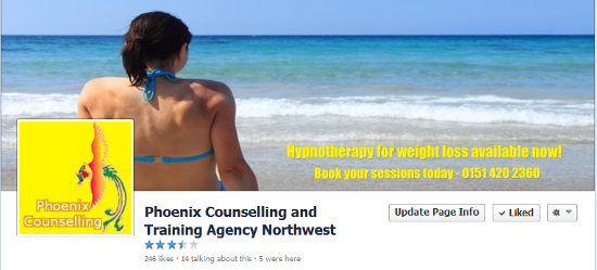 Facebook local business page - Phoenix Counselling