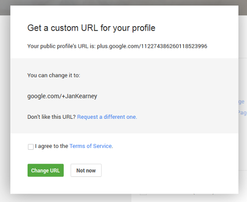 google plus custom irl for profile