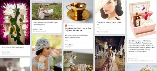 Propose PR Pinterest inspiration board A Vintage Affair