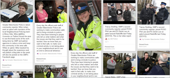 Pinterest for non-visual businesses - Greater Manchester Police