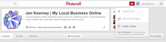 create a Pinterest map pin board step 1