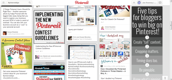 Pinterest search does not recognise hashtags