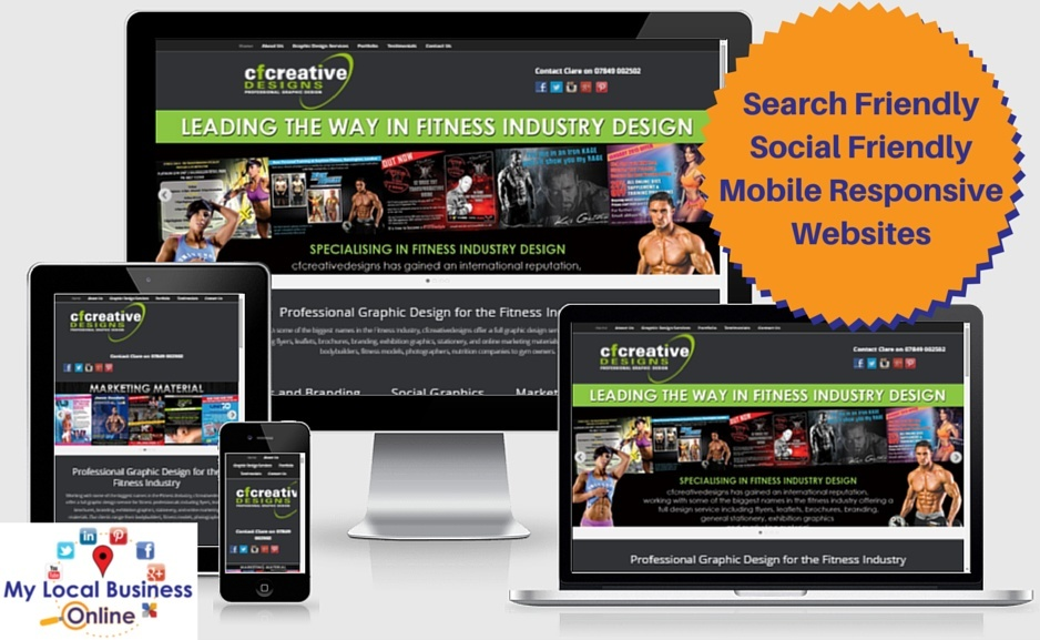 local business websites - search friendly, social friendly, mobile responsive as standard