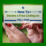 How to delete a free Yell.com listing