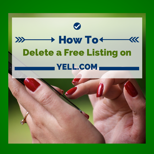 How to delete free Yell listings