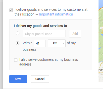 Hide address on Google Local Pages and Maps by ticking the check box