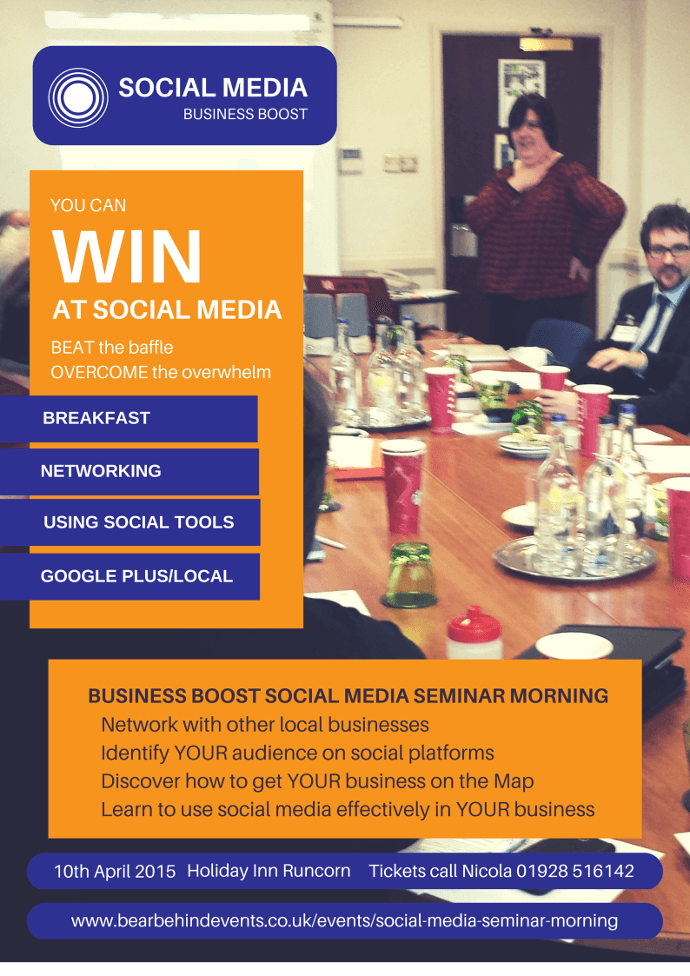 business boost runcorn social media seminar and networking 10th April 2015