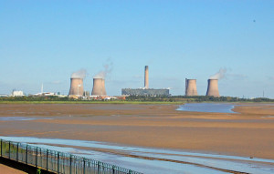 A view of Fiddlers Ferry Power Station from Spike Island Widnes