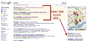 Listings at the very top of Google search results are paid for ads