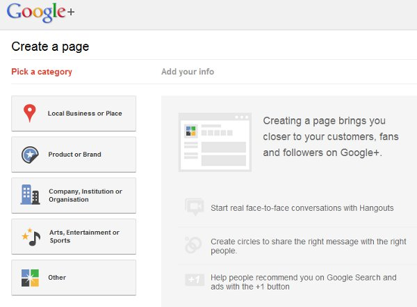 Creating a Google+ Page for local business