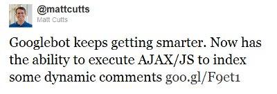 google search ajax and javascript twitter update