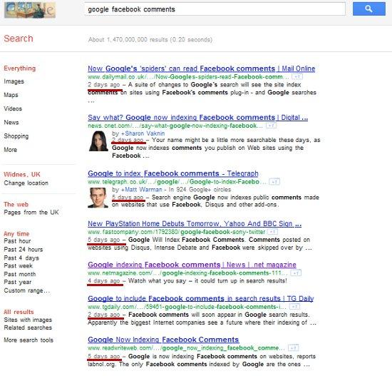 Google search freshness update