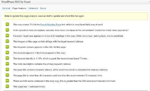 seo copy checking on-page optimisation with yoasts wordpress seo