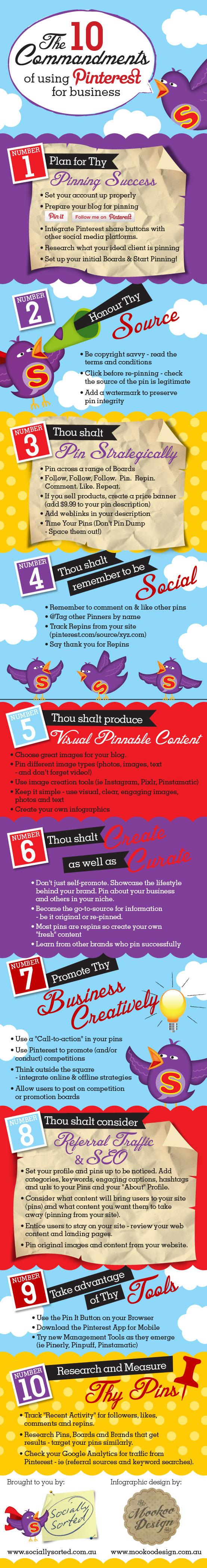Using Pinterest for business 10 commandments