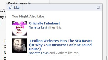 The new Facebook recommendations bar in action