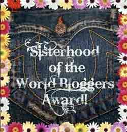 sisterhood blogger award