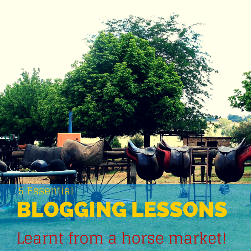 blogging tips learnt from a market stall
