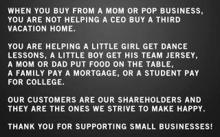 like my page, I'm a small business...