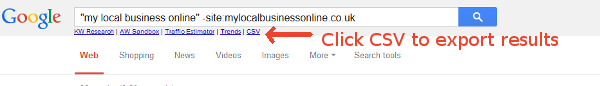 SEO4Firefox to search for citations and downloas as csv