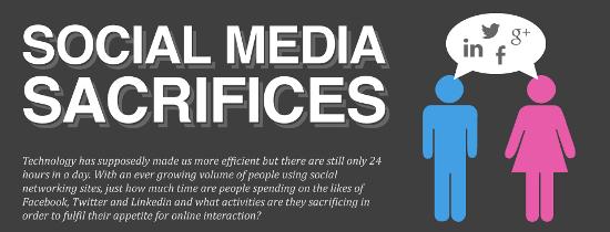 social media sacrifices