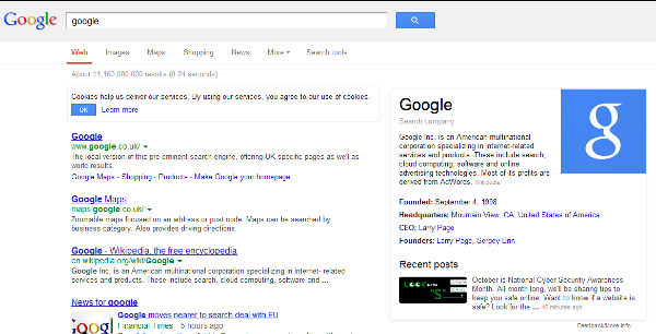 google knowledge graph search