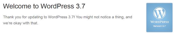 Wordpress 3.7 update