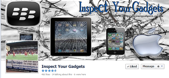 Facebook local business page - Inspect your Gadgets