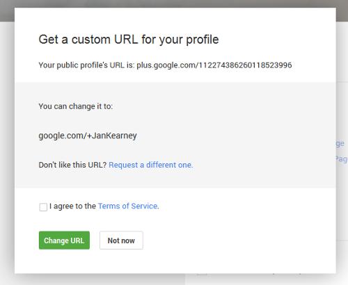 google plus custom irl for profile