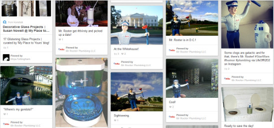 Pinterest board Where's Mr Rooter
