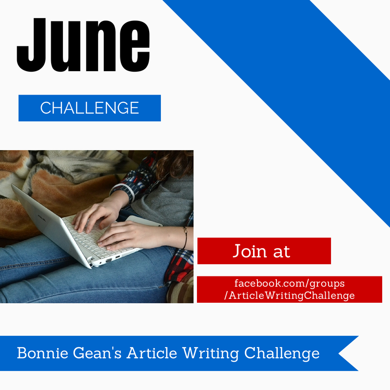 Bonnie Gean's Article Writing Challenge
