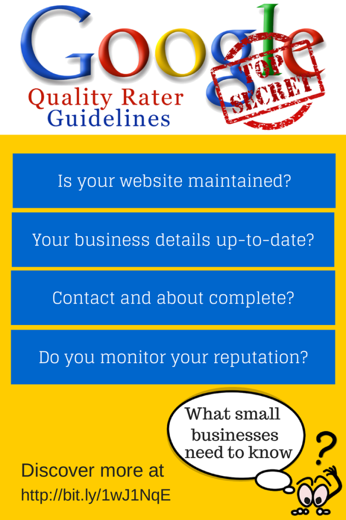 Google Quality Rater Guidelines - What do small business need to know