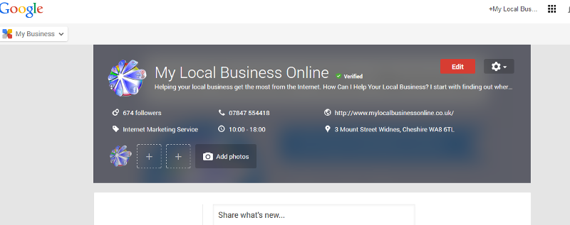 Google My Business - edit your business