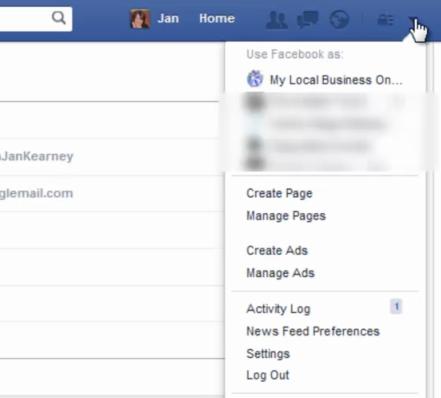 navigate to facebook settings