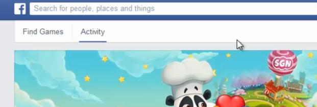 Click the activity tab