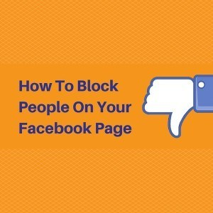 how to block people on your facebook business page