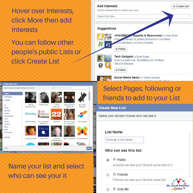 Interest lists help you see more from the pages you really like on Facebook