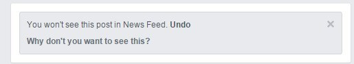 Control your Facebook News Feed by letting the algo know you don't want to see this