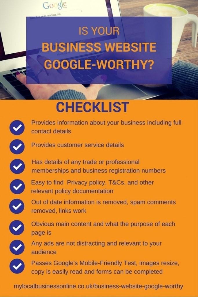 Is your business website Google worthy checklist
